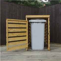 "NSTALLED 3 x 3 Pressure Treated Single Bin Store (2'8"" x 2'5"") INCLUDES INSTALLATION"