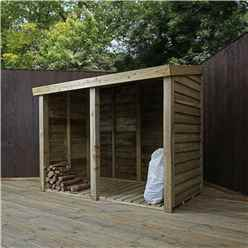3 x 6 Pressure Treated Overlap Double Storage Unit (3'3 x 6'2)