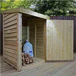 3 x 3 Pressure Treated Overlap Storage Unit With Single Door (3'3 x 3'3)