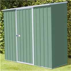 **PRE-ORDER:DUE BACK IN STOCK 22ND DECEMBER** INSTALLATION 8 x 3 Space Saver Pale Eucalyptus Metal Shed (2.26m x 0.78m) INCLUDES INSTALLATION