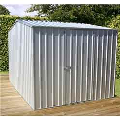 **PRE-ORDER: DUE BACK IN STOCK 1ST MARCH** INSTALLED 8 x 10 Premier Zinc Metal Shed (2.26m x 3m) INCLUDES INSTALLATION