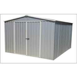 "INSTALLED 9' 10"" x 12' Premier Regent Zinc Metal Shed (3m x 3.66m) INCLUDES INSTALLATION"