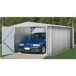 *PRE-ORDER DUE BACK IN STOCK 31ST JAN* INSTALLED 10 x 20 Utility Zinc Metal Shed (3m x 6.02m) INCLUDES INSTALLATION