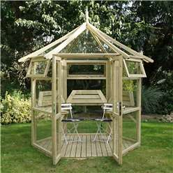 "*NEW PRODUCT DUE MID MAY*8 x 9 Superior Pressure Treated Glass Greenhouse (8'1"" x 9'3"")"