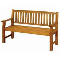 3 Seater - 1 Piece - Turnbury Garden Bench - Free Next Working Day Delivery (Mon-Fri)