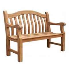 2 Seater - 1 Piece - FSC Teak Balmoral Garden Bench - Free Next Working Day Delivery (Mon-Fri)