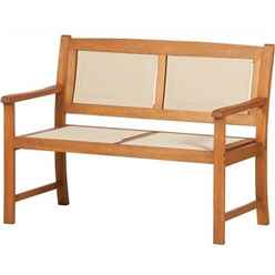 2 Seater - Henley PADDED TEXTYLENE 2 Seater Bench Golden Sand Textylene - Free Next Working Day Delivery (Mon-Fri)