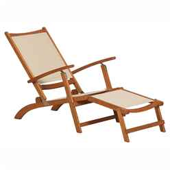 Henley PADDED TEXTYLENE Steamer Chair  - Golden Sand Textylen - Free Next Working Day Delivery (Mon-Fri)