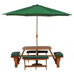8 Seater -Sacramento Picnic Bench with 4 Seat cushions - Free Next Working Day Delivery (Mon-Fri)