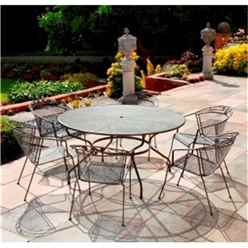 6 Seater - 7 Piece - RG Elegance Round Dining Set - 150cm Round Table with 6 Stacking Elegance Chairs
