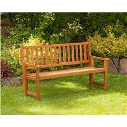 3 Seater - St Andrews Folding Bench - Free Next Working Day Delivery (Mon-Fri)