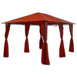 ARABIAN DELUXE 3X4M RECTANGULAR GAZEBO - BURGANDY - Free Next Working Day Delivery (Mon-Fri)