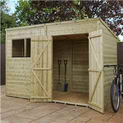 10 x 6 Warwick Shiplap Pressure Treated Pent Shed