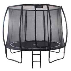 INSTALLED 8ft Black Vortex Trampoline (ROUND) with FREE Cover and Ladder