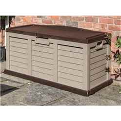 Deluxe Mocha Plastic Storage Box/Bench