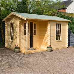 4.2m x 3.3m Home Office Apex Log Cabin - 28mm Wall Thickness (14 x 11)