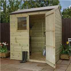 6 x 4 Pressure Treated Tongue and Groove Reverse Apex Shed