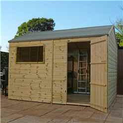 12 x 8 Pressure Treated Tongue and Groove Reverse Apex Shed