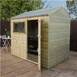 8 x 6 Pressure Treated Tongue and Groove Reverse Apex Shed