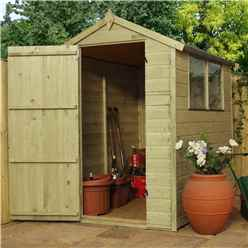INSTALLED 6 x 4 Pressure Treated Tongue and Groove Apex Shed - INCLUDES INSTALLATION