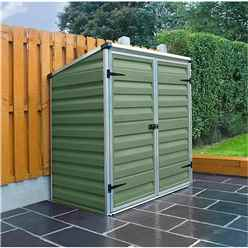 4 x 3 Plastic Green Garden Store - Free Floor (1.22m x 0.91m) *FREE 24/48 HOUR DELIVERY*