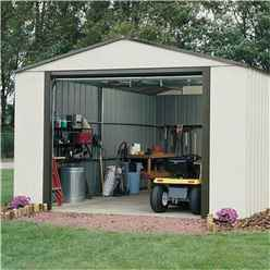 INSTALLED - 12 x 10 Metal Garage (3710mm x 2970mm) - INSTALLATION INCLUDED
