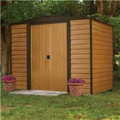 INSTALLED - 8 x 6  Woodvale Metal Sheds INCLUDES FLOOR (2530mm x 1810mm) - INSTALLATION INCLUDED