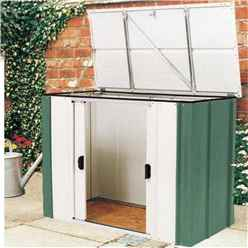 4 x 2 Green Metal Storette INCLUDES FLOOR (1390mm x 770mm)
