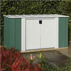 6 x 3 Green Storette INCLUDES FLOOR (1700mm x 920mm)