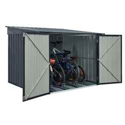 **PRE-ORDER ONLY - BACK IN STOCK MID JUNE** 6 x 6 Bike Store Anthracite Grey (2.02m x 1.89m)
