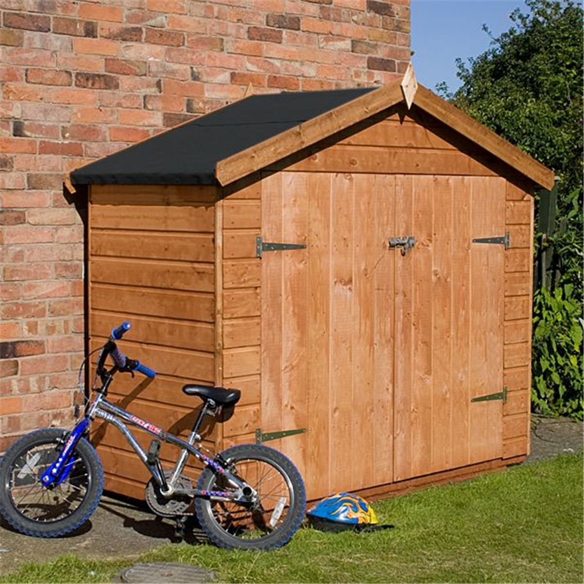 7 x 3 premier tongue and groove bike store 10mm solid osb. Black Bedroom Furniture Sets. Home Design Ideas