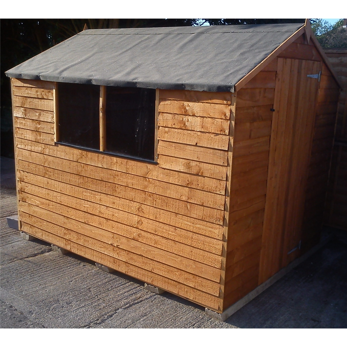 **FLASH REDUCTION** 8 X 6 Overlap Apex Shed With Single