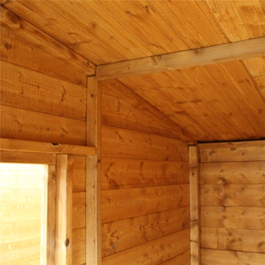 8 x 6 tongue and groove curved roof shed with single door for Tongue and groove roof