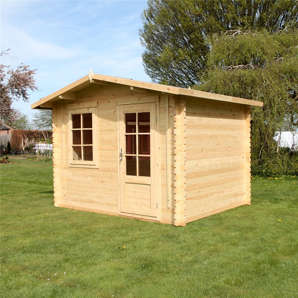 3m x 10 x 8 apex log cabin single glazing free for Cuisine 3m x 4m