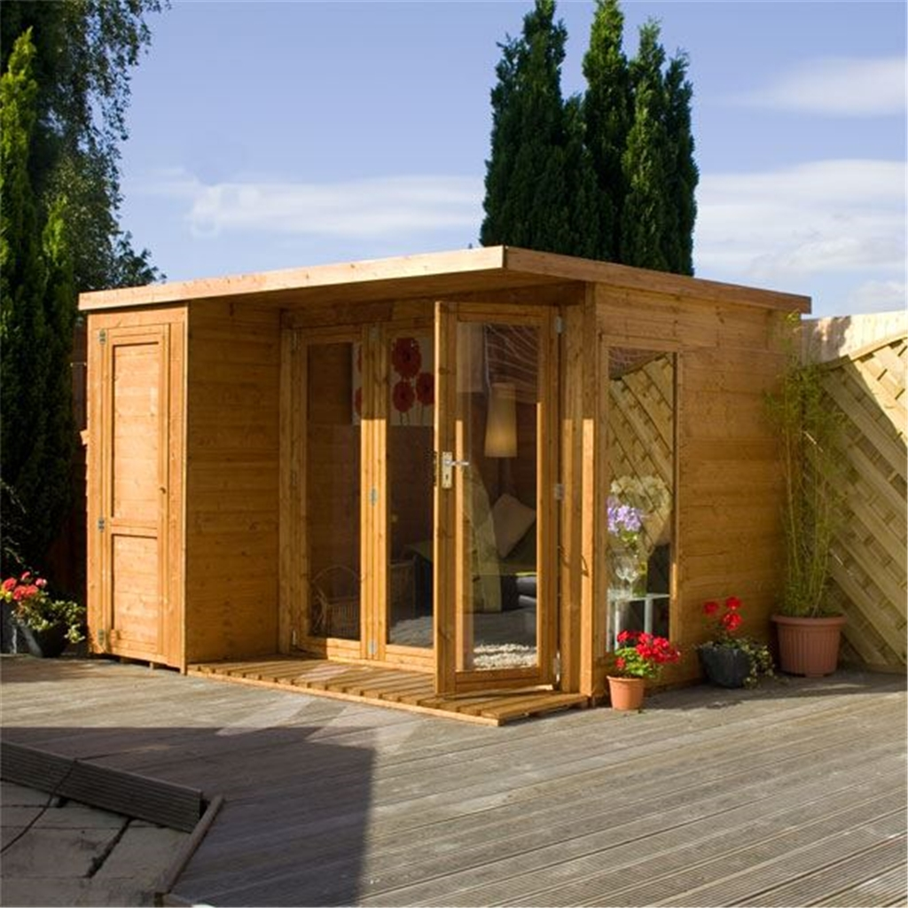 10 x 8 contempory gardenroom large combi 12mm tongue and for 10 x 8 garden room