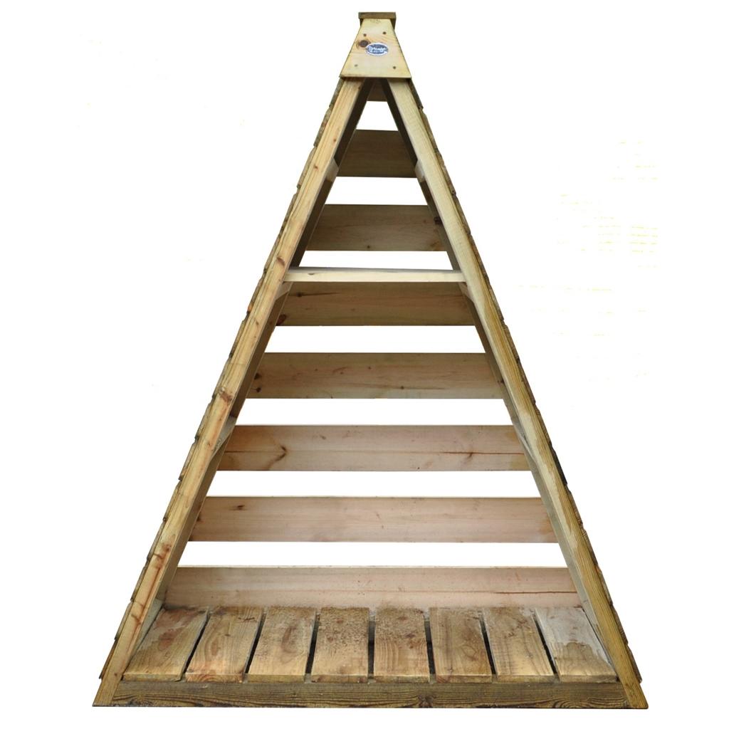 4 8ft X 2 1ft Pressure Treated Triangular Log Store 1 5m
