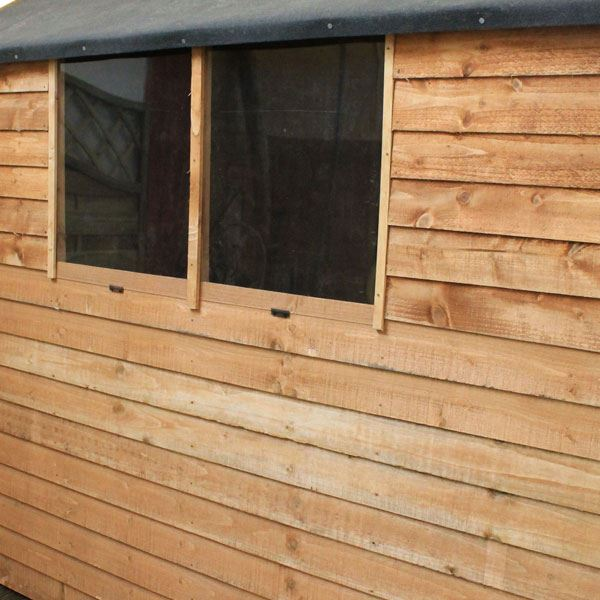 INSTALLED 7 X 5 Overlap Apex Shed With Single Door + 2