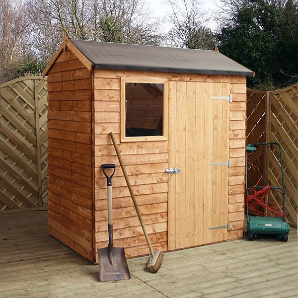 Installed 4 X 6 Reverse Overlap Apex Shed With Single Door 1 Window 10mm Solid Osb Floor Includes Installation