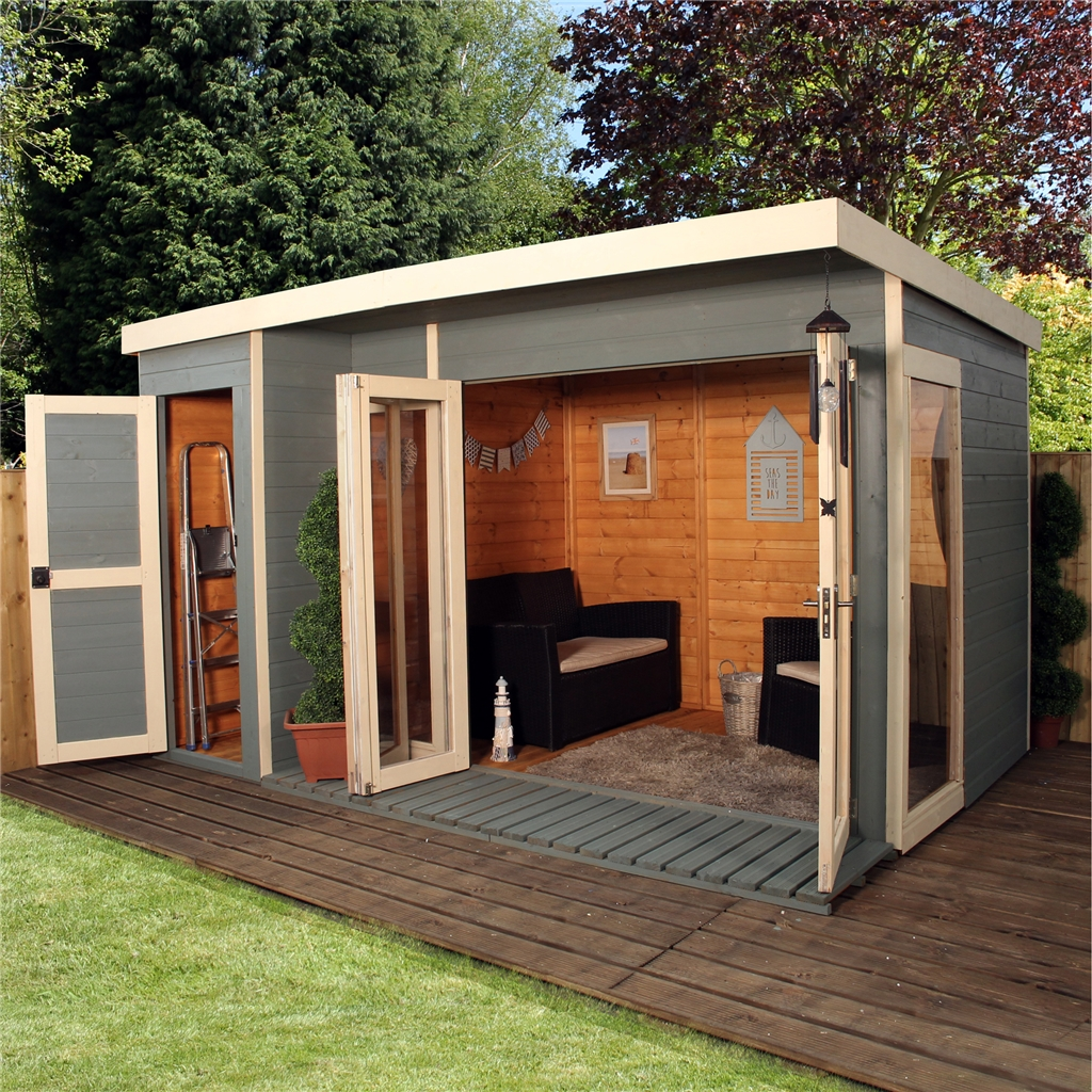 Installed 12 x 8 contempory gardenroom large combi 12mm for Combi garden room