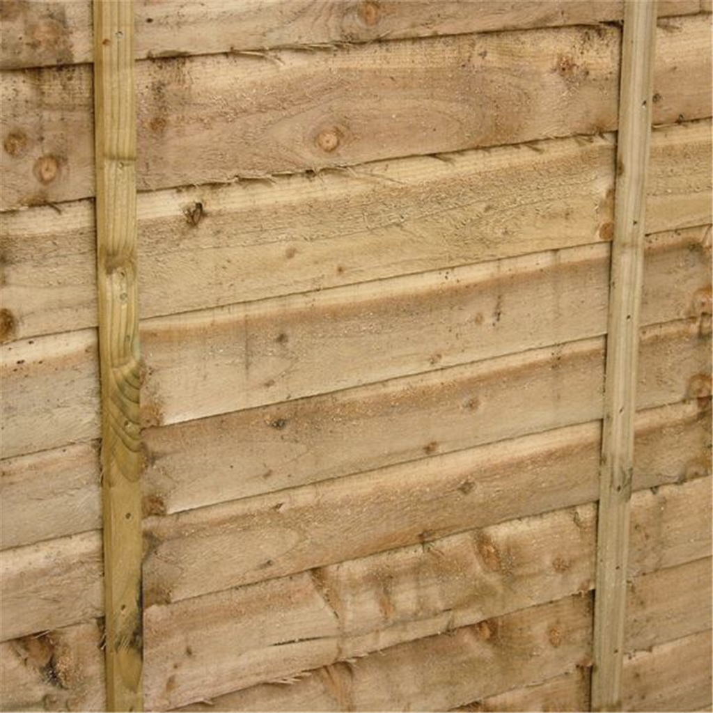 4ft pressure treated waney edge overlap fencing panels 1 panel only min order 3 panels free. Black Bedroom Furniture Sets. Home Design Ideas