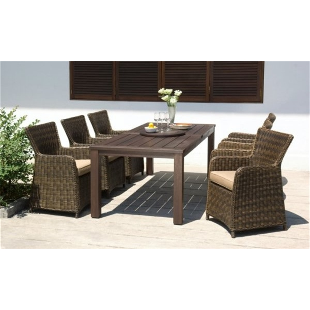 10 Seater Set - 10 Piece - Regancy Dining Set With Eucalyptus Table, Lazy  Susan & 10 Rattan Carver Chairs - Free Next Working Day Delivery (mon-Fri)