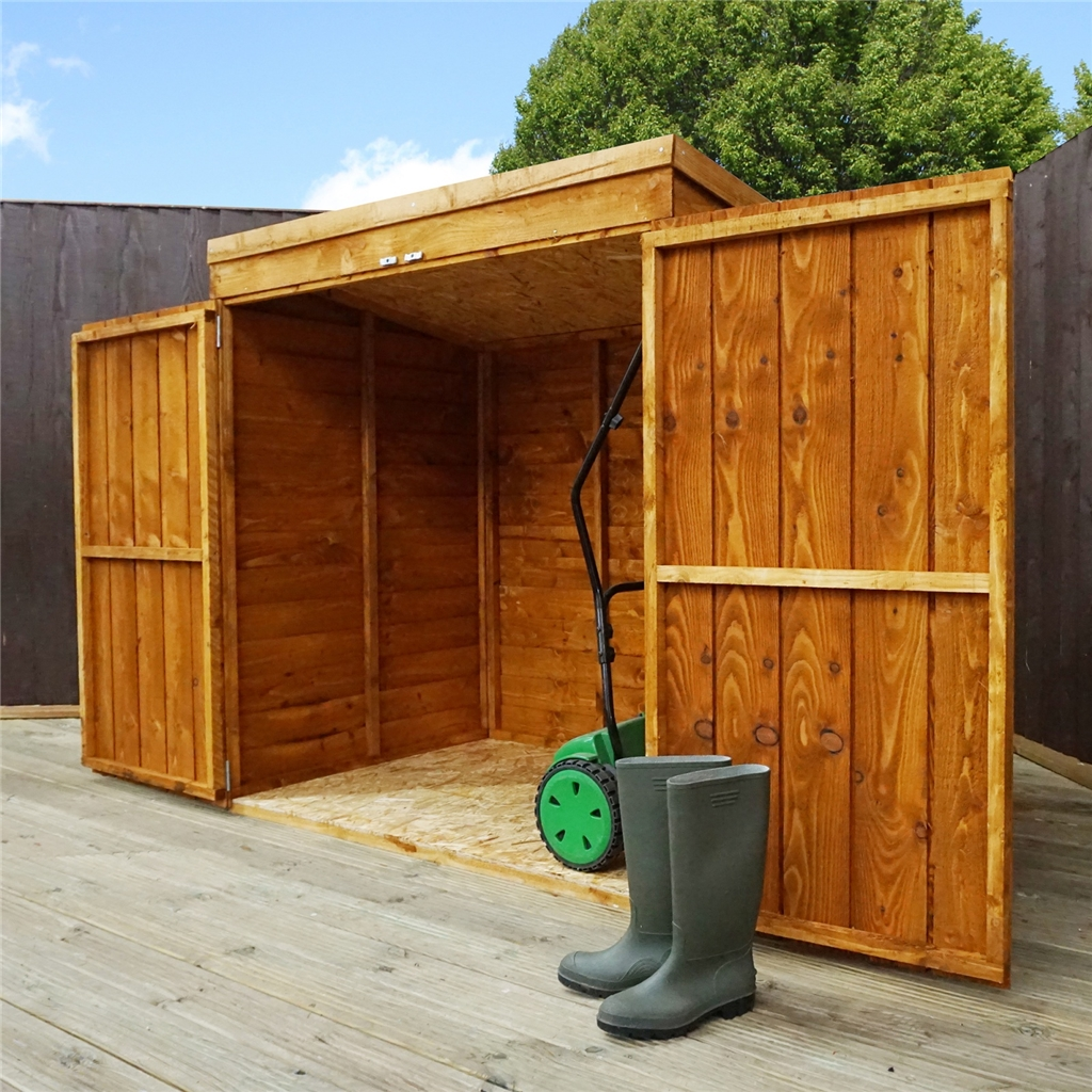 Installed 4 8 Quot X 3 Overlap Pent Mower Shed 10mm Solid