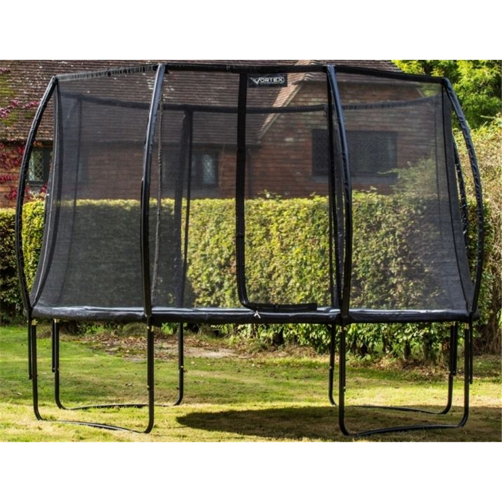 Installed 12ft Black Vortex Trampoline Round With Free