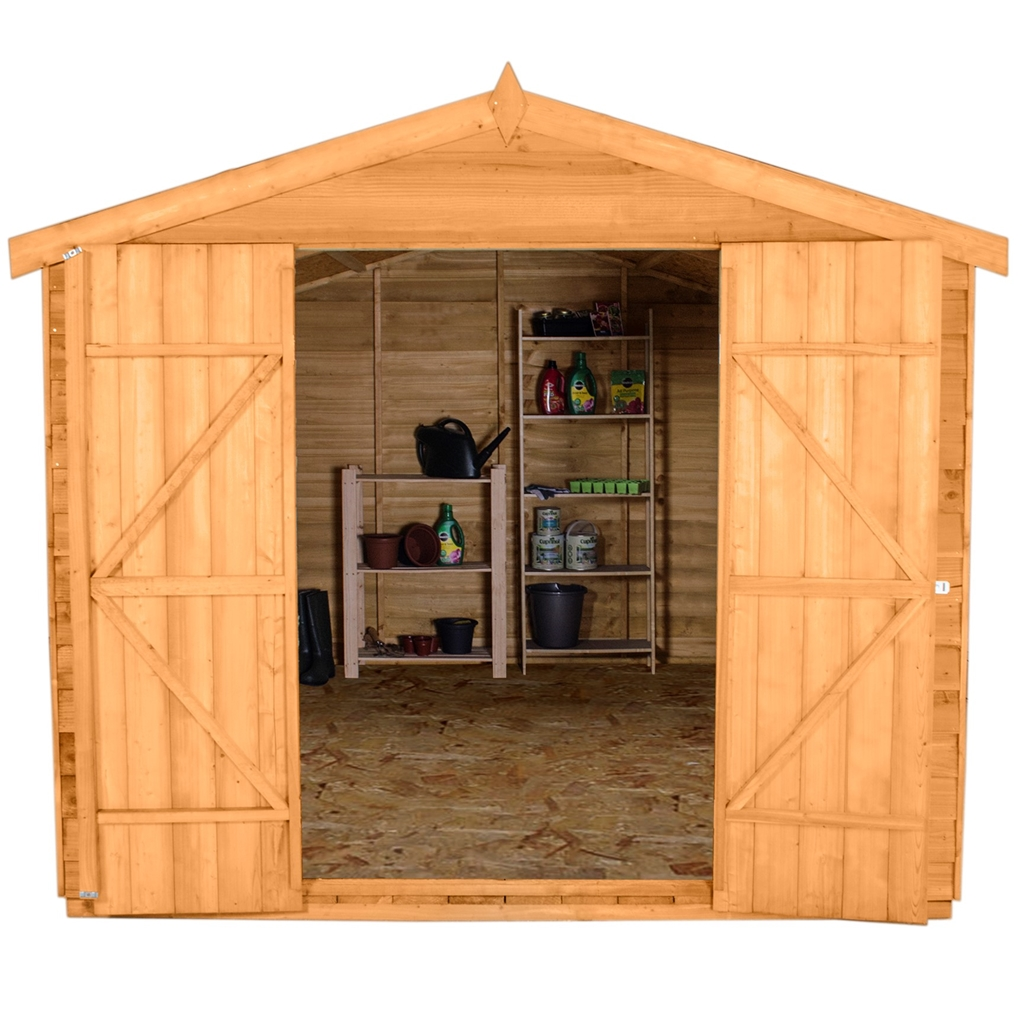12 X 8 3 7m X 2 6m Overlap Apex Wooden Garden Shed With