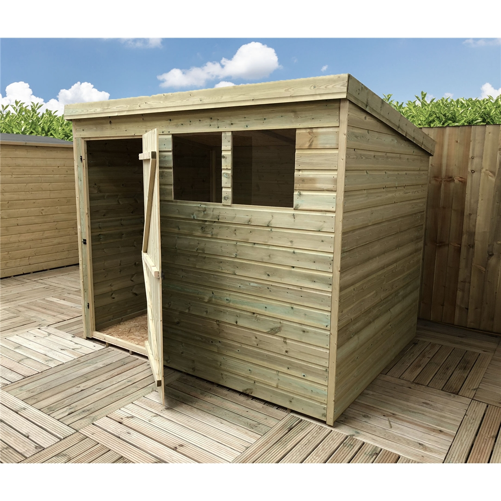 10 X 3 Pressure Treated Tongue And Groove Pent Shed With 3