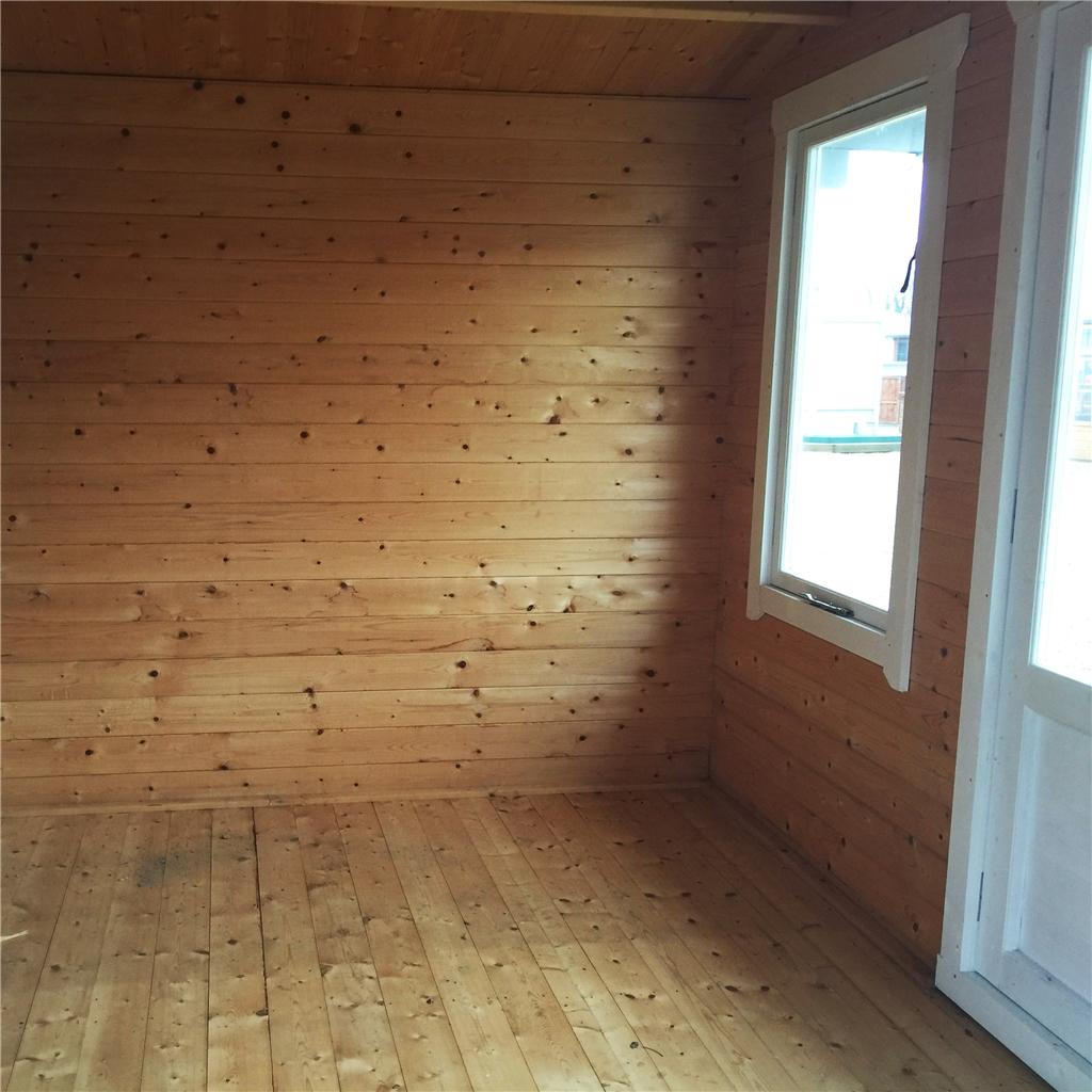 3 3m X 3m Premier Log Cabin With Half Glazed Double Doors