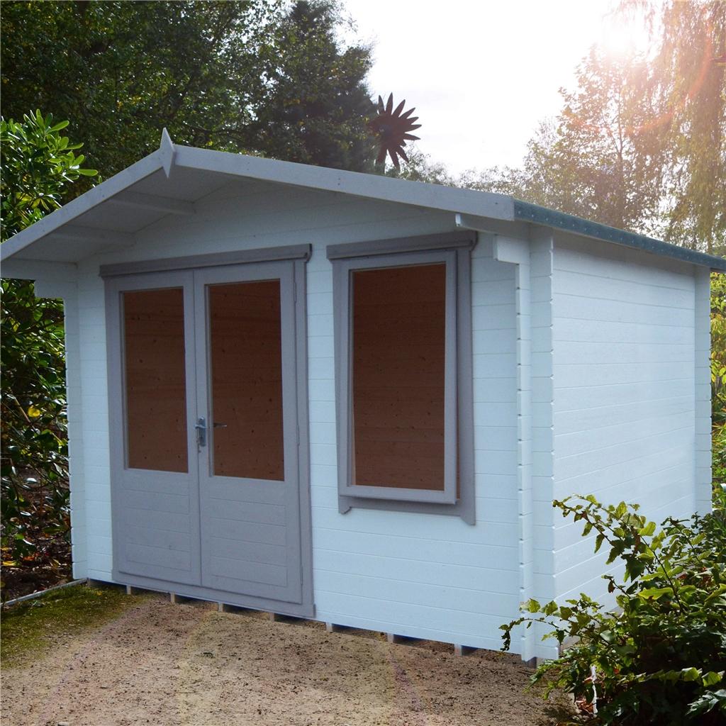 Installed 3 3m X 2 4m Premier Log Cabin With Half Glazed