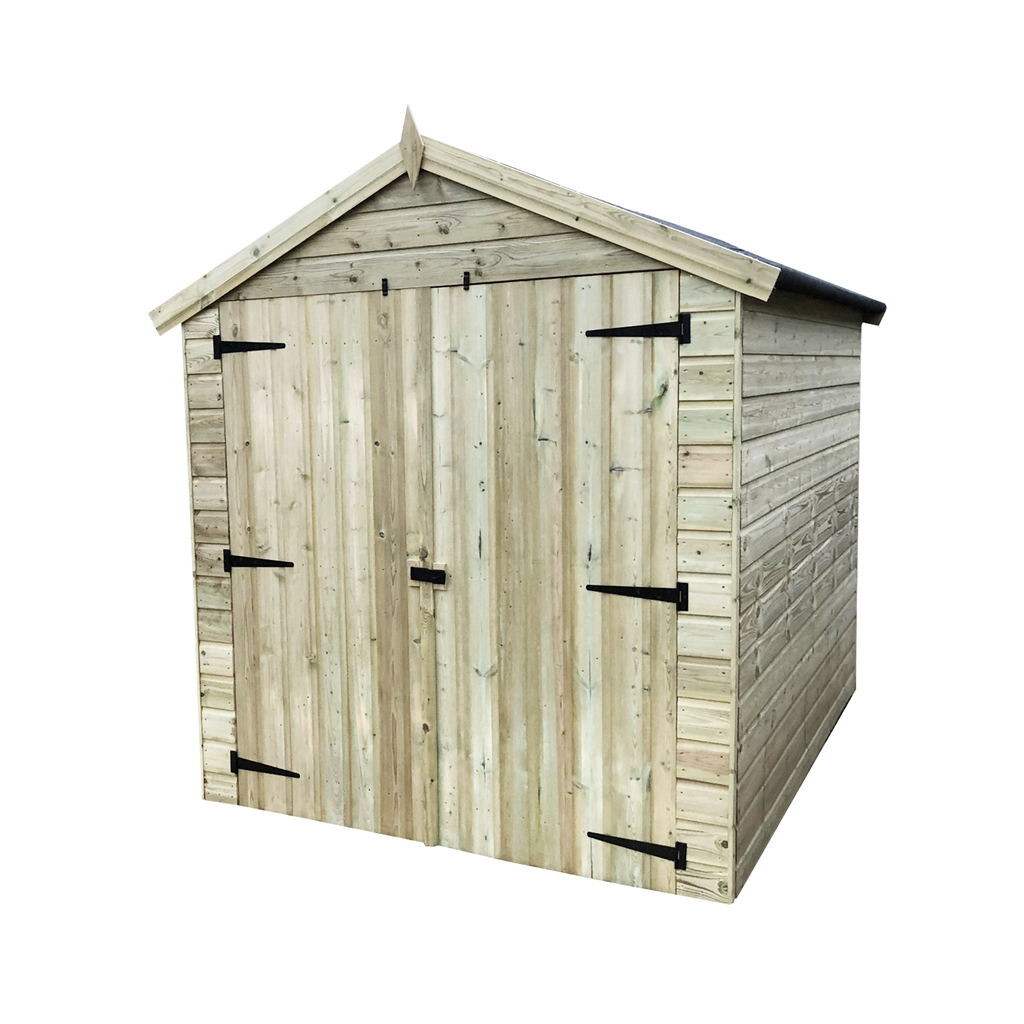 8 X 8 Premier Pressure Treated Tongue And Groove Apex Shed