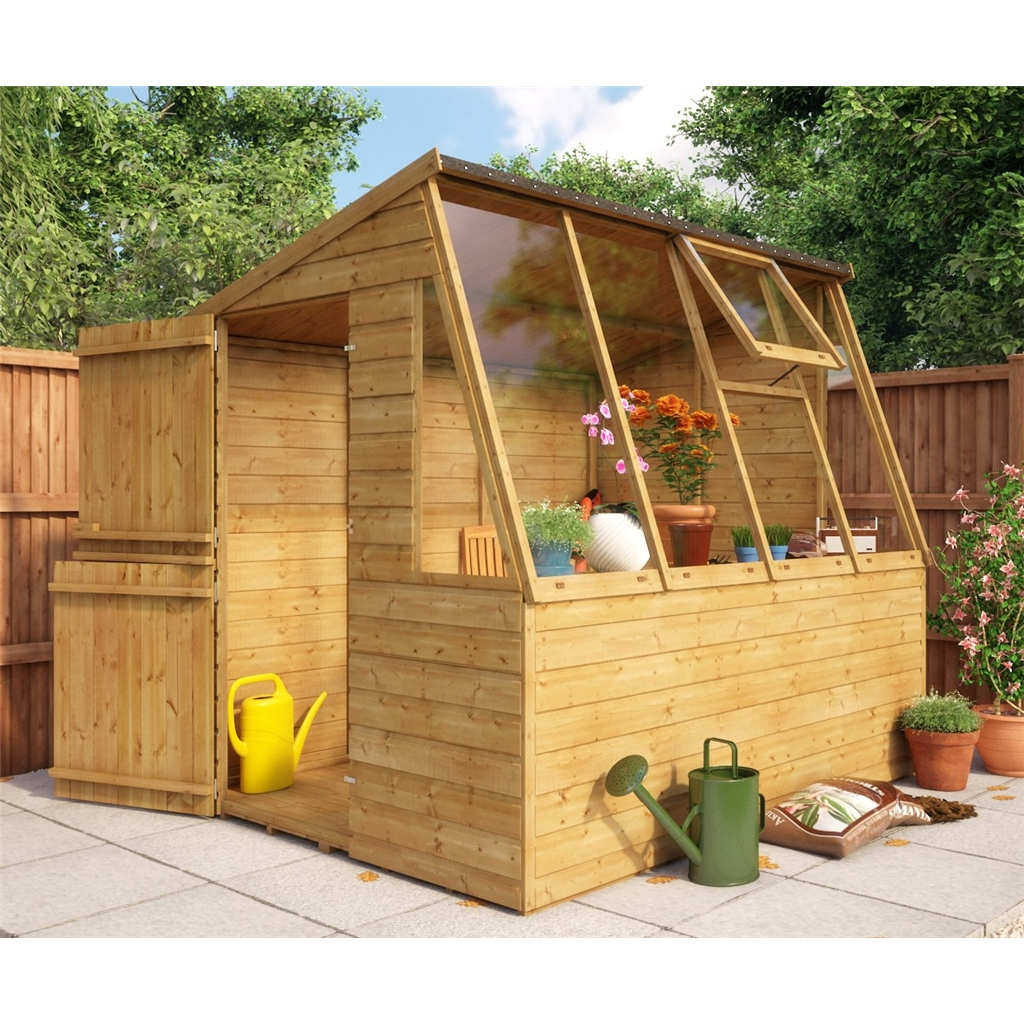 8ft x 6ft potting shed with stable door shedsfirst for Buy potting shed