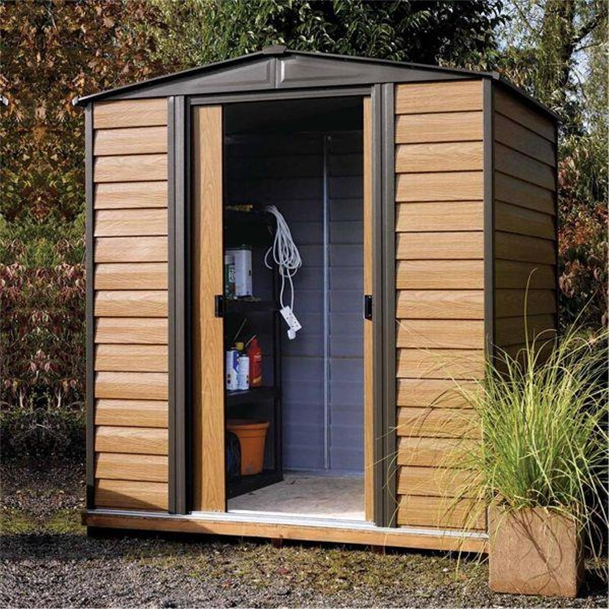6 x 5 woodvale metal shed 1940mm x 1510mm shedsfirst. Black Bedroom Furniture Sets. Home Design Ideas